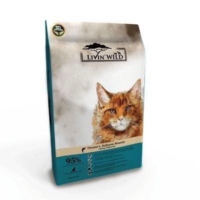 Livin'Wild 野宴-紐西蘭天然寵糧-全齡貓放養無穀配方《野生帝王鮭魚》4lb/1.8kg