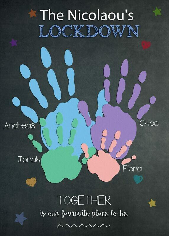 Lockdown Chalkboards - Favourite Place (Hands) Board