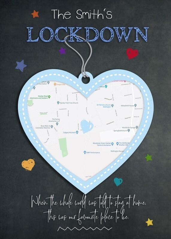 Lockdown Chalkboards - Favourite Place (Map) Board