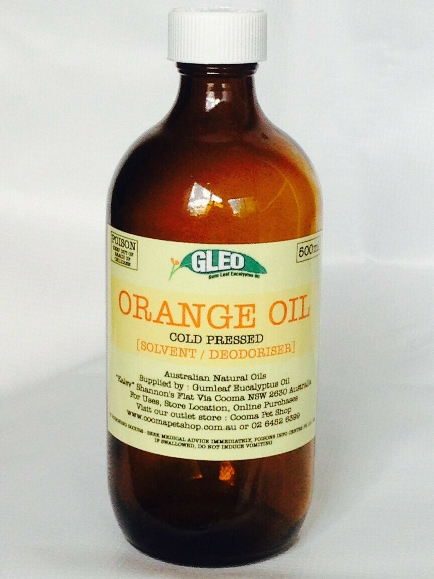 Pure Australian Orange Oil 500ml