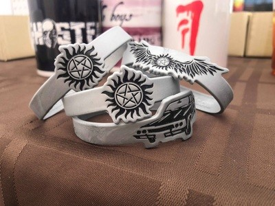 Supernatural Rubber Bracelets (three)
