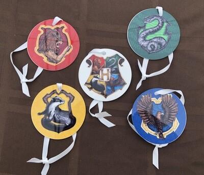 Hogwarts Crest Ornaments - Set of 5