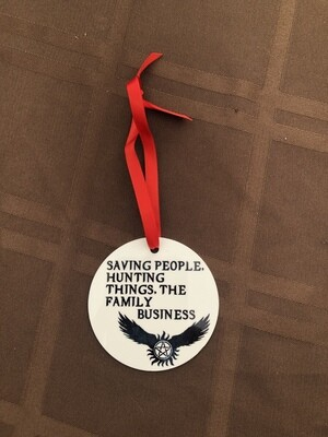 Saving People, Hunting Things, The Family Business Ornament