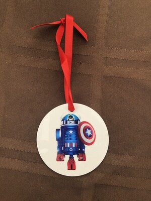R2D2 Captain America Ornament