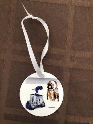 Wall-E and Eve as R2D2 and C-3PO Ornament
