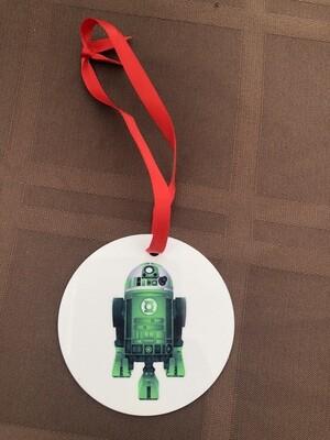 R2D2 Green Lantern Ornament