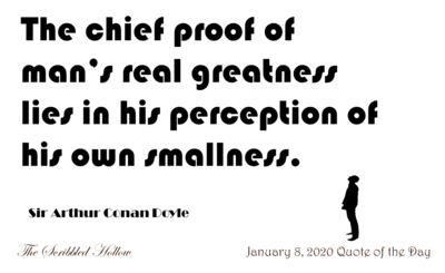 Greatness is a Perception of Smallness Magnet - Jan 8th Quote