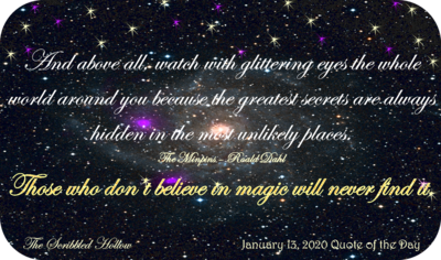 Those who don't believe in magic Magnet - Jan 13th Quote