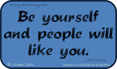 Be Yourself Magnet - Jan 10th Quote