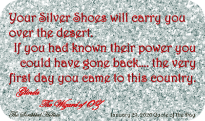 Silver Shoes magnet - Jan 29th Quote