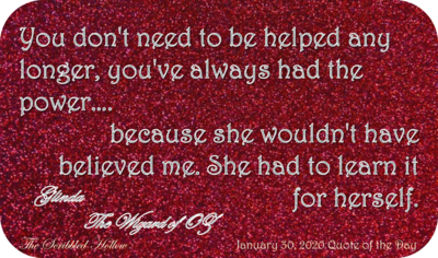 Ruby Shoes magnet - Jan 30th Quote