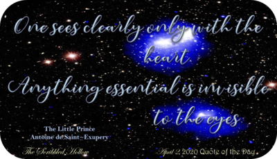 Sees clearly with the heart Magnet - April 2nd Quote
