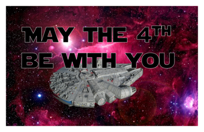 May the 4th (and the force) be with You! Magnet