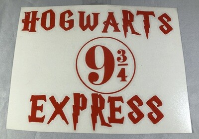 Hogwarts Express 9 3/4 Vinyl Sticker