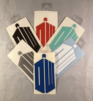 DW TARDIS Sticker