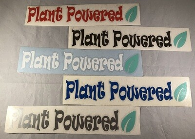 Plant Powered Vinyl Sticker