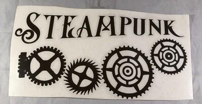 Steampunk Gears Vinyl Sticker
