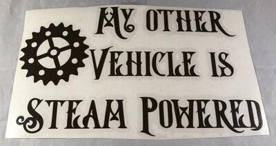 Other Vehicle is Steam Powered Vinyl Sticker