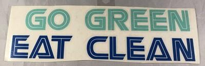 Go Green Eat Clean Vinyl Sticker