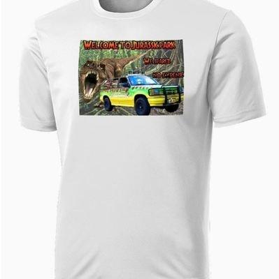 Jurassic Park - T-Rex and Jeep Shirt