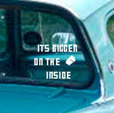 It's Bigger on the Inside & Tardis Vinyl Sticker