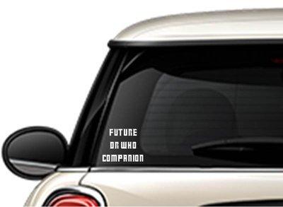 Future Dr Who Companion Vinyl Sticker
