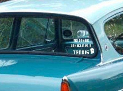 My Other Vehicle is a TARDIS Vinyl Sticker