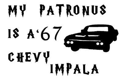 My Patronus is a ' 67 Chevy Impala Vinyl Sticker