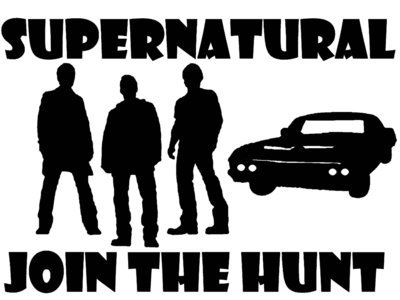 Supernatural Join the Hunt w/the boys and Baby Vinyl Sticker
