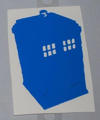 TARDIS Vinyl Sticker