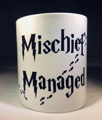 Mischief Managed w/Feet Coffee Mug