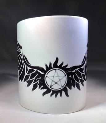 Wings and Antipossession Tattoo Coffee Mug