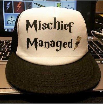 Mischief Managed Hat w/Lightning Bolt Hat