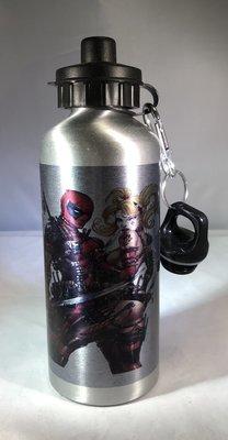 Deadpool & Harley Quinn Water Bottle