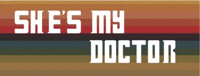 She's My Doctor on Stripes Water Bottle