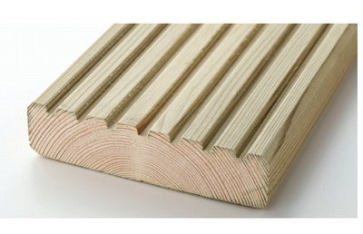 Redwood Grooved Tanalised Timber Decking