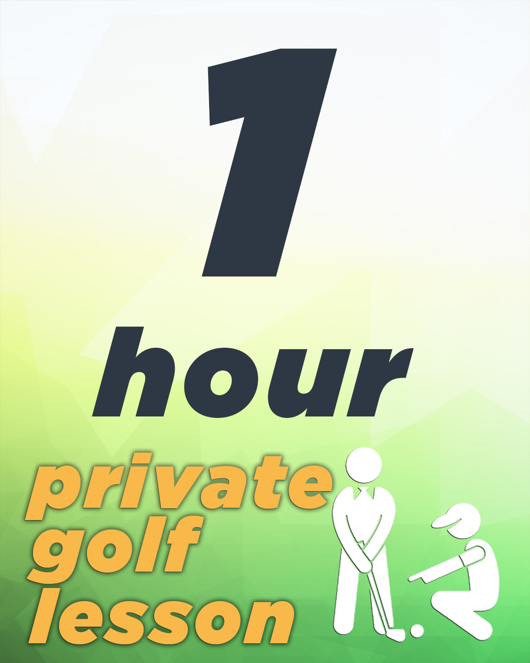 1 Hour Private Golf Lesson
