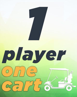 1 Player & 1 Cart - 9 Holes
