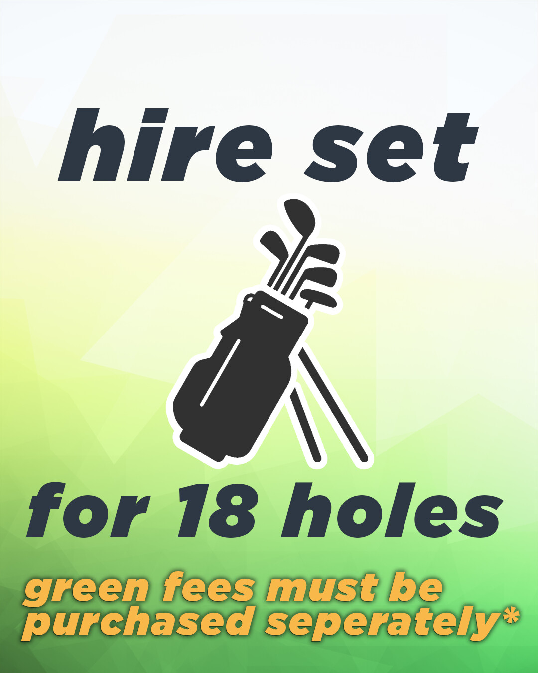 Hire Set for 18 Holes