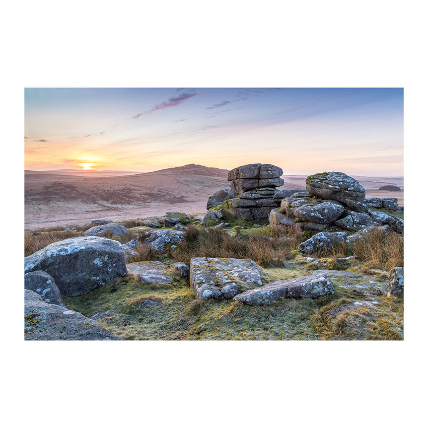 """GRANITE SUNRISE"" 12x8 Mounted Print (16x12 mount)"