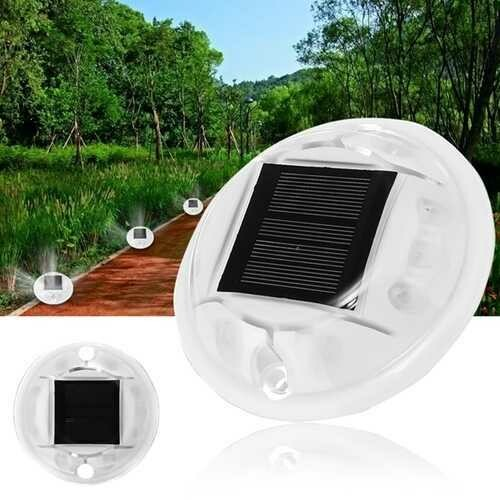 Solar Powered 10 LED Light Driveway Road Path Step Dock Outdoor Security Lamp