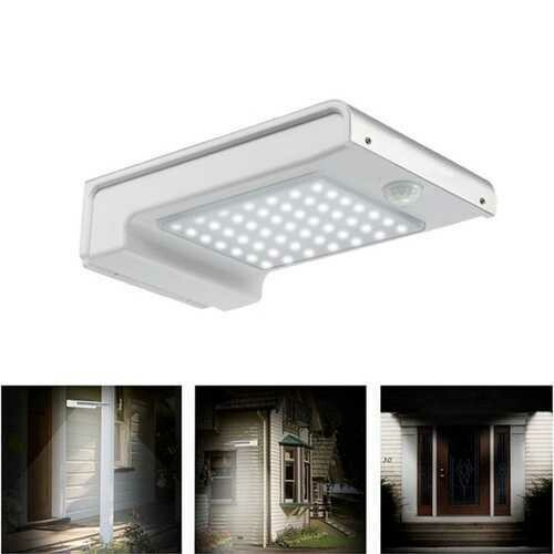 2W Solar Powered 49 LED Motion Sensor Wall Light Waterproof Outdoor Garden Security Lamp