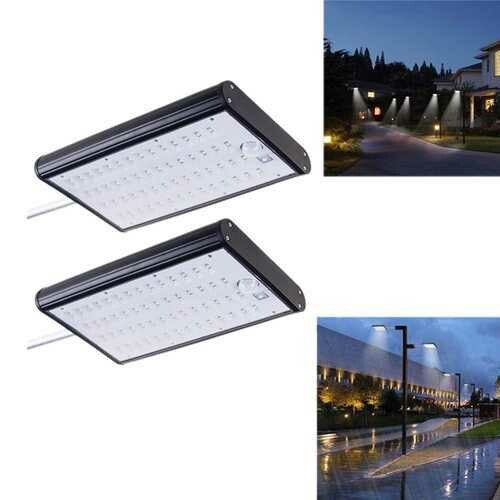 ARILUX Solar Powered 56 LED Motion Sensor Street Light 4400mAh 450lm Waterproof Wall Lamp for Outdoor Yard