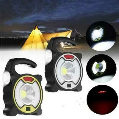 Portable Rechargeable Solar LED Flood Light Camping Lamp  for Outdoor Work Hiking Fishing