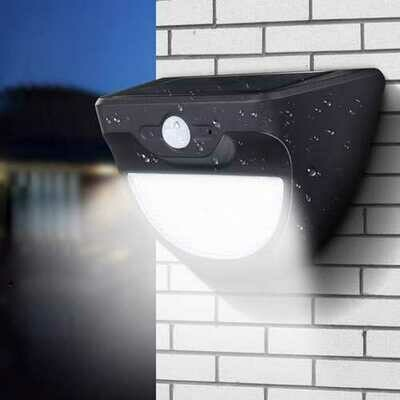 Solar Powered 37 LED Radar Sensor Wall Light Waterproof Outdoor Garden Security Lamp