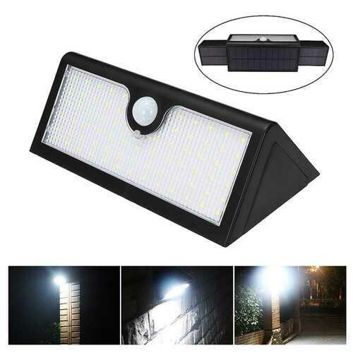 71 LED Solar Lights Outdoor Waterproof Wall Lamp for Home Garden Security