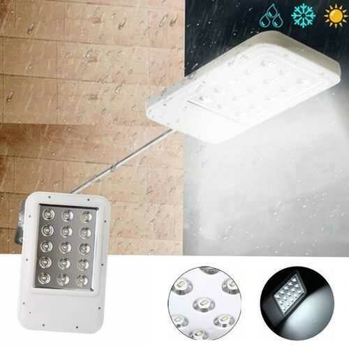 Ultrathin Solar Power 15 LED Light-controlled Wall Street Light Waterproof Outdoor Garden Lamp
