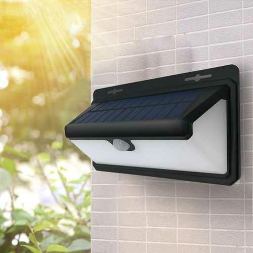 ARILUX 4.4W 100 LED Solar PIR Motion Sensor Wall Light Outdoor Waterproof Garden Security 3 Modes