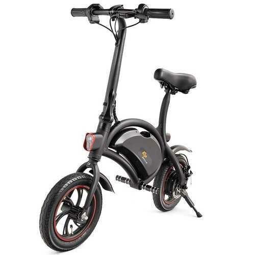"12"" 350W Portable Folding Electric Bike EBike Cruise Control W/ Headlight APP"