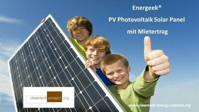 Energeek®, das Solar Panel mit Mietertrag CHF 99 pro Jahr / Stück von E-Ladestationen / E-Tankstellen und E-Fahrzeugen